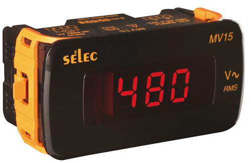 MV15 Digitálny voltmeter (50-480V AC) Selec