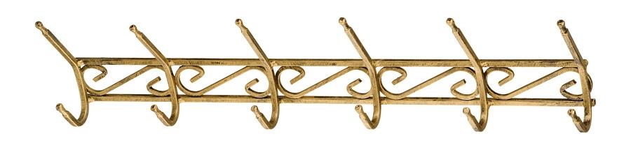 VEŠIAK na stenu KOVANÉHO železa Vešiak 6ka 60 cm, FARBA HÁČIKA