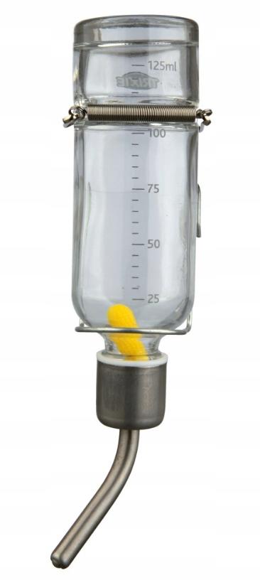 Трикси стеклянные поилка для клетки / кадры ХОМЯК 125ml