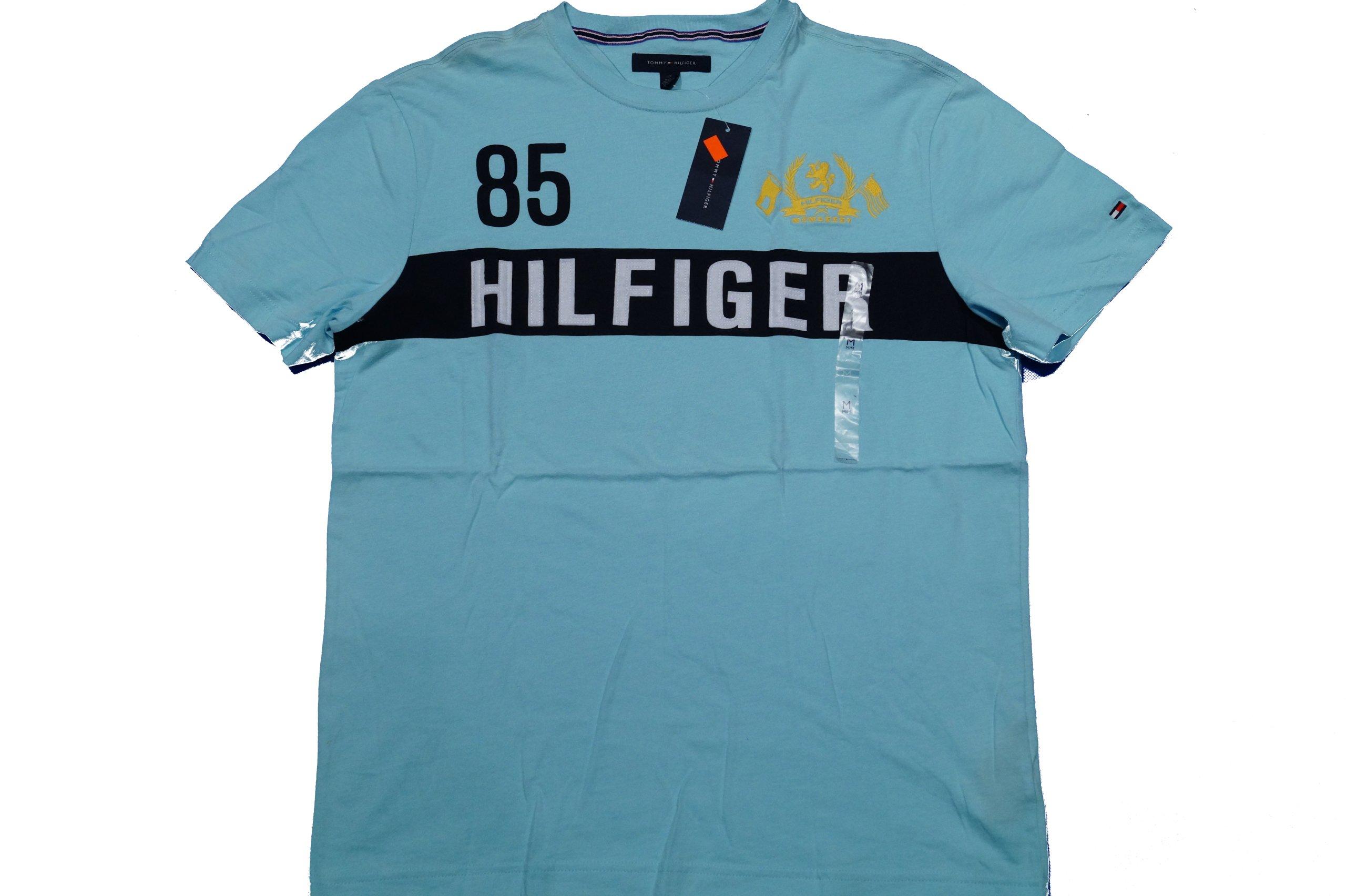 8c6ea2a0a4499 TOMMY HILFIGER T-Shirt Męski TURKUSOWY Roz: M 5063555820 - Allegro.pl
