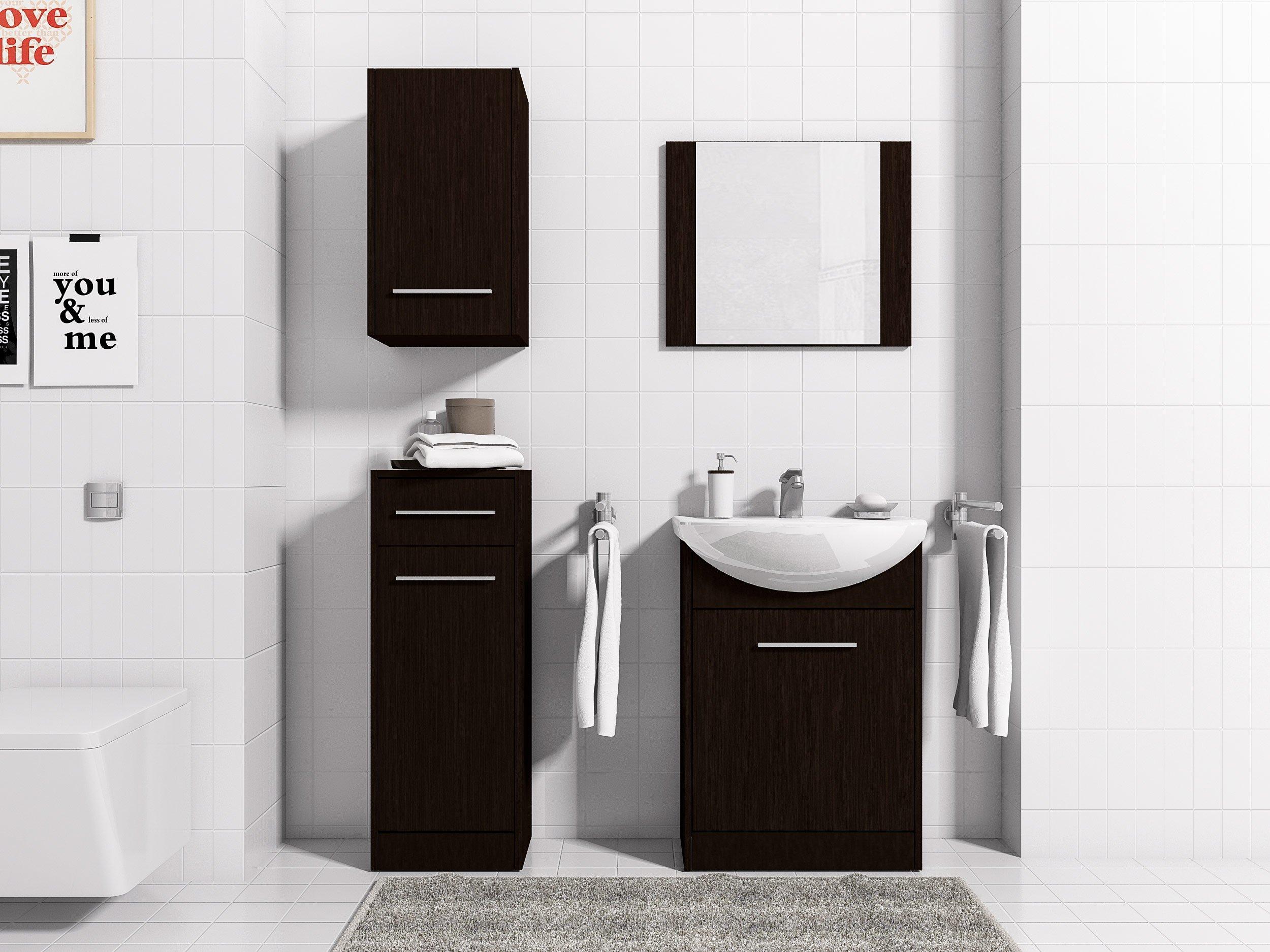 Nábytok pre kúpeľňa NIKO 1 zásuvky a zrkadlo MEBLINE