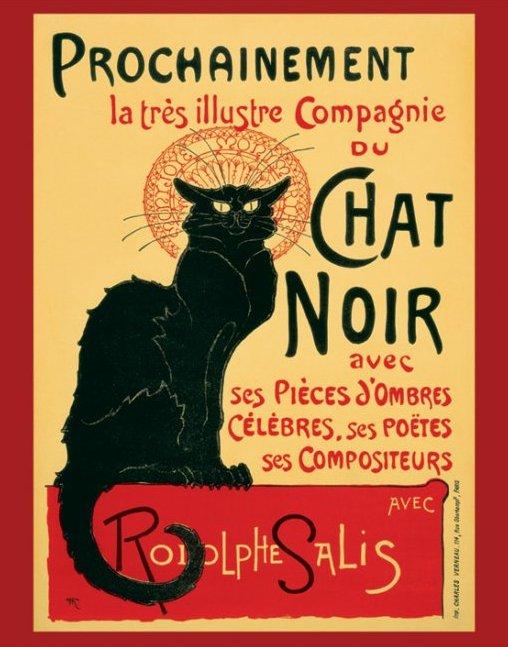 Chat Noir Steinlen - plagát 40x50 cm