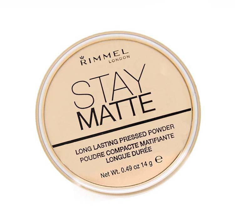 RIMMEL STAY MATTE PUDER MATUJĄCY TRANSPARENT 001