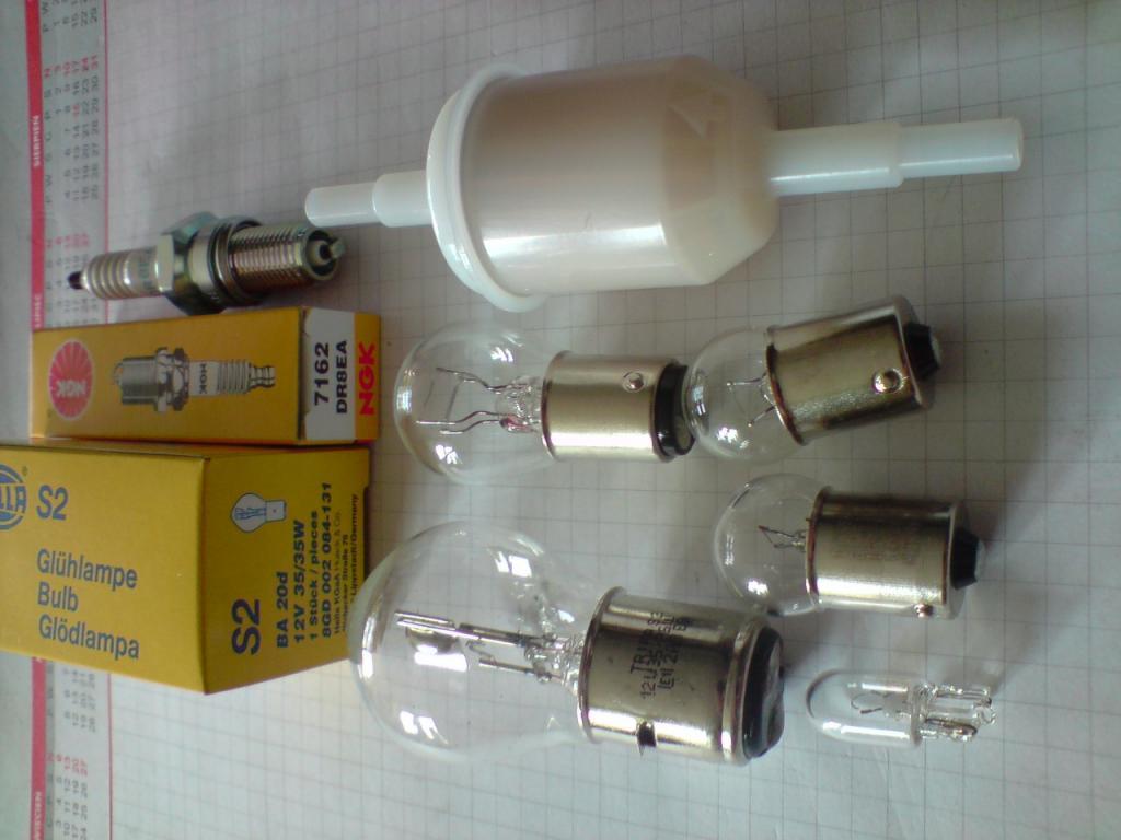 lempute S2-35/35W-kpl+zvake NGK DR8EA+Filtr