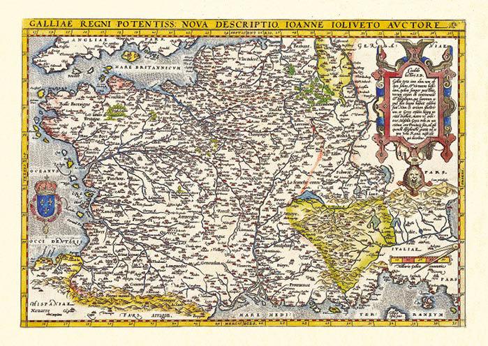Stara mapa Francji