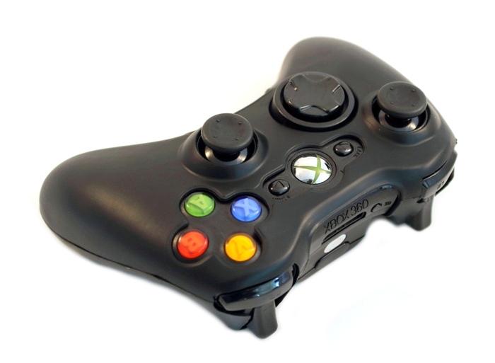 Silikónový kryt pre Xbox 360 Pad Black