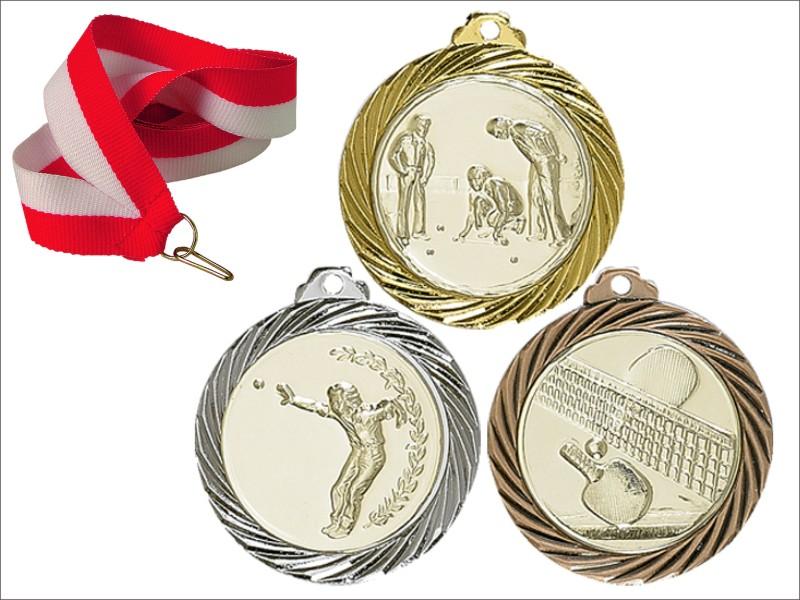 Красивая медаль 32 мм + пояс + алюминиевые вставки