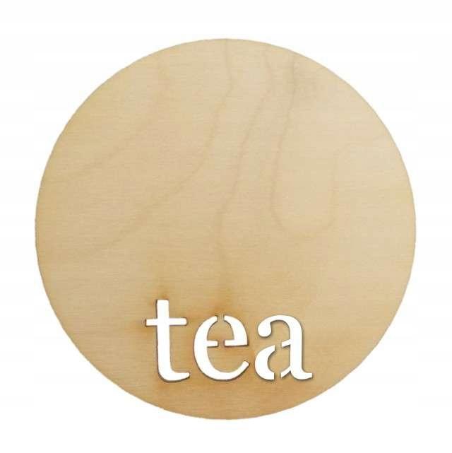 Drevený pitting pad decoupage čaj