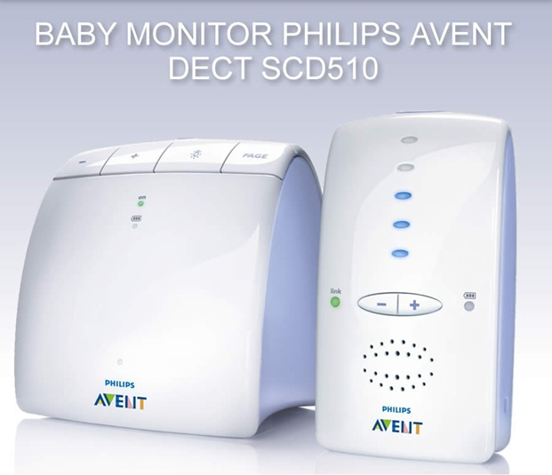Philips - Elektronická Nanny AVENT DECT SCD510