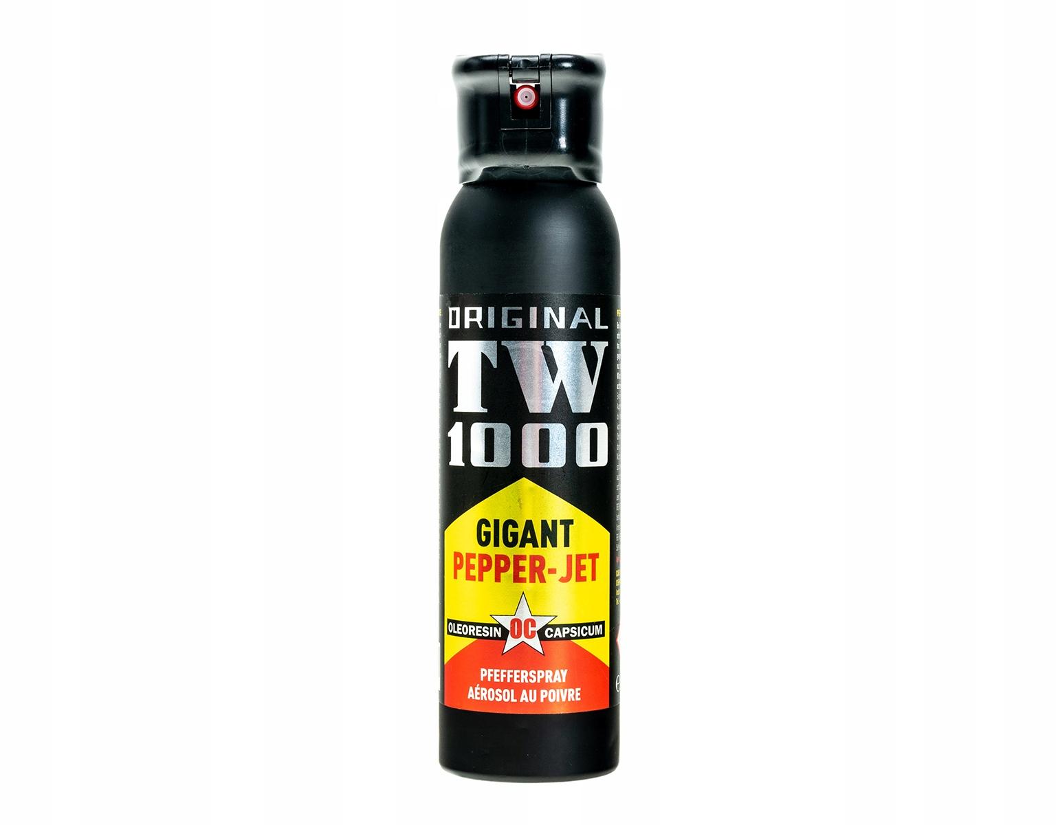 Pepřový sprej TW 1000 gigant hornby Jet 150 ml prietok