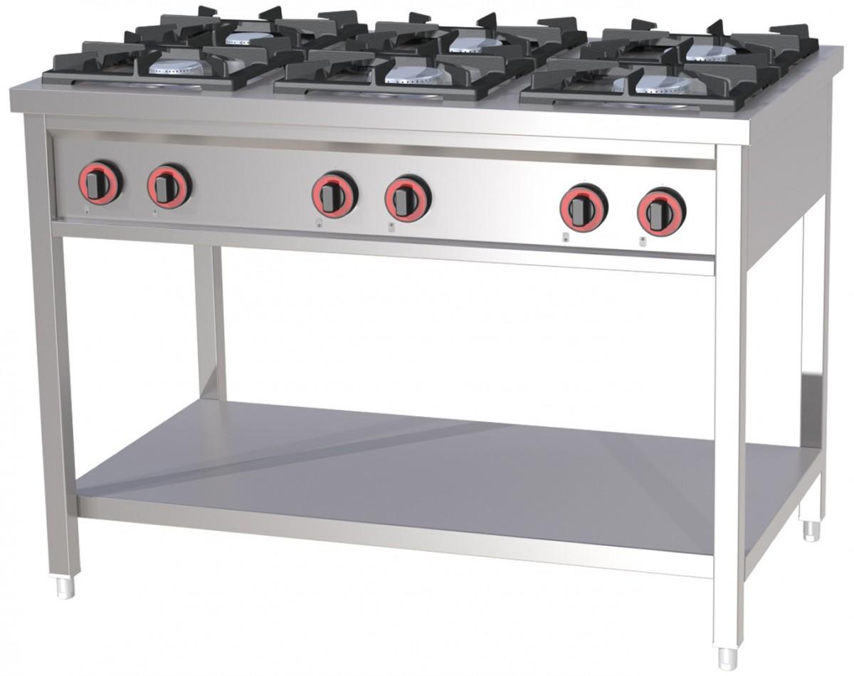 6-horák Gas Kuchyňa 36kW 1200x700 Silný hit
