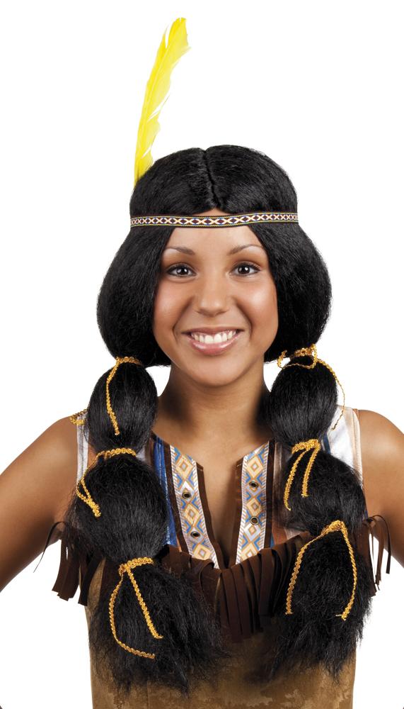 WIG Indianka Pokahontaz Indian Braids 86394