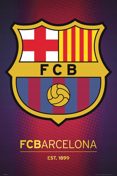 Барселона Эмблема Клуба 1899 - плакат 61x91,5 см