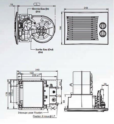 Дополнительный нагреватель насос универсальный 12v 5kw (фото 1)   Автозапчасти из Польши
