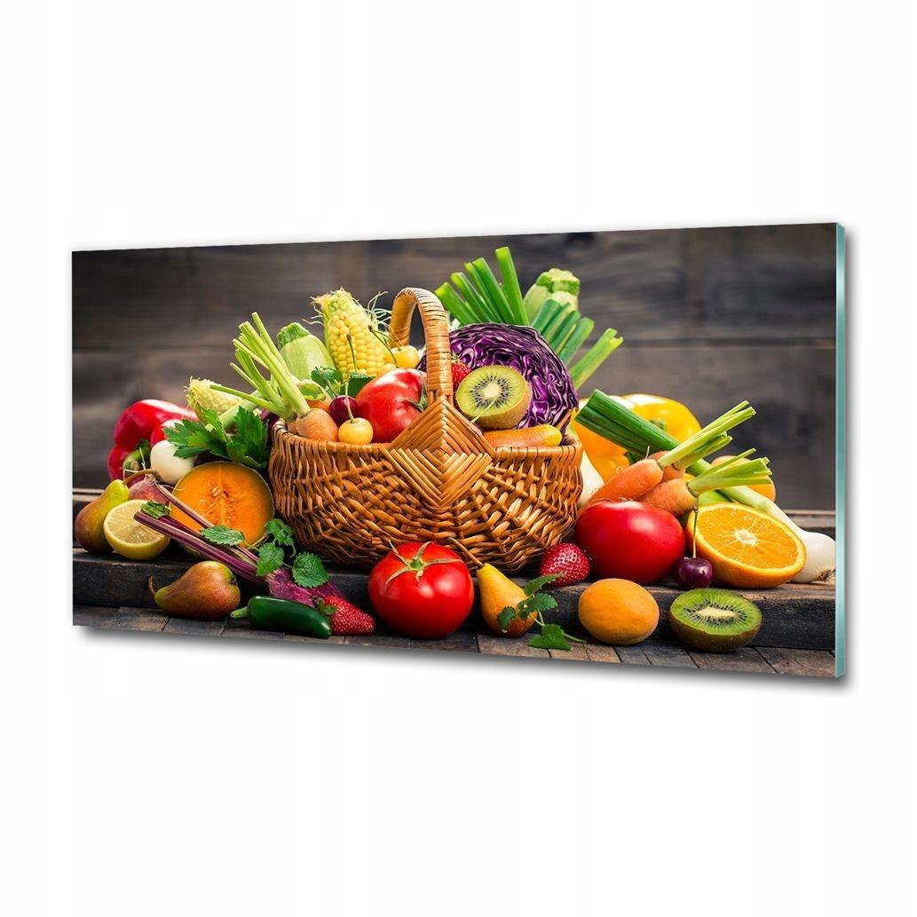 Obrázok skla obývacia izba vintage Košík zeleniny, ovocia