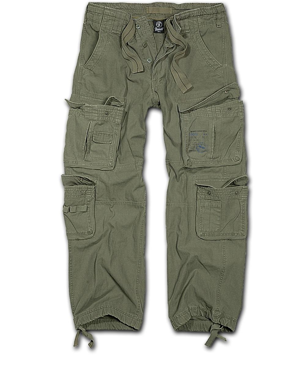 Nohavice BRANDIT Čistý Vintage olivový XL