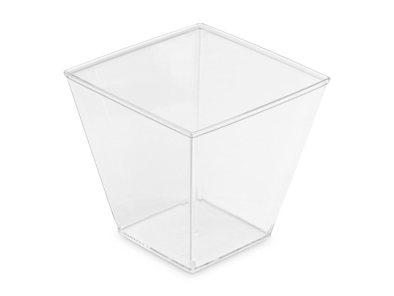 Pucharki pucharek na deser kwadratowe 200ml 50szt