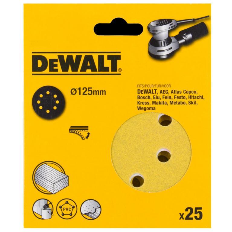 DEWALT DT3113 P80 PAPIER 125mm 25ks pre DWE6423