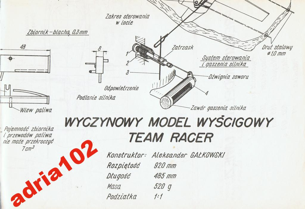 TEAM RACER RACKING MODEL