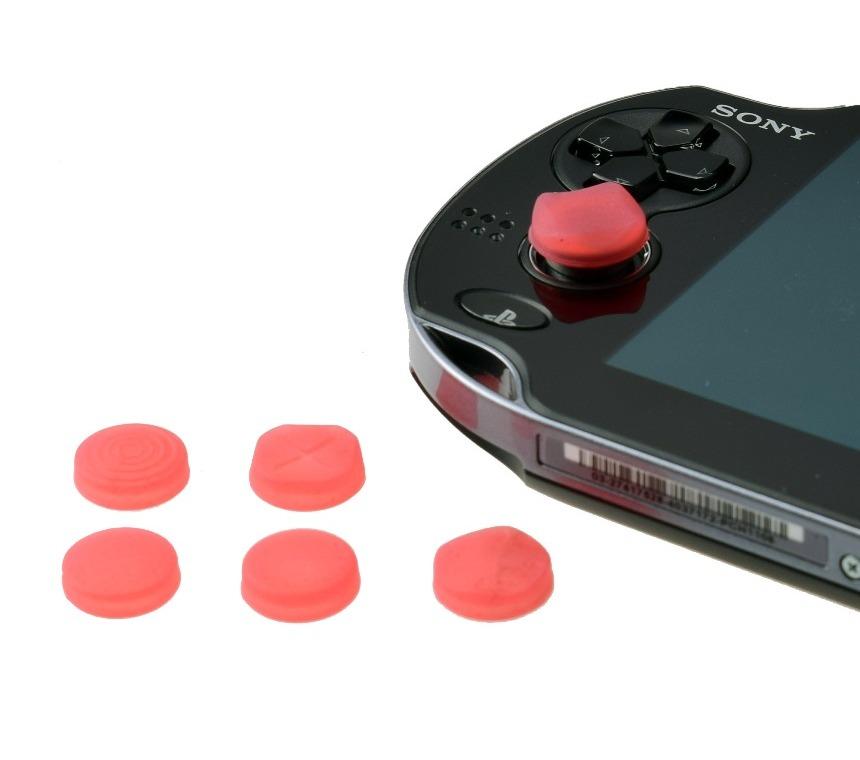 6 Silikónové prekrytie na analógoch PS Vita [Black]