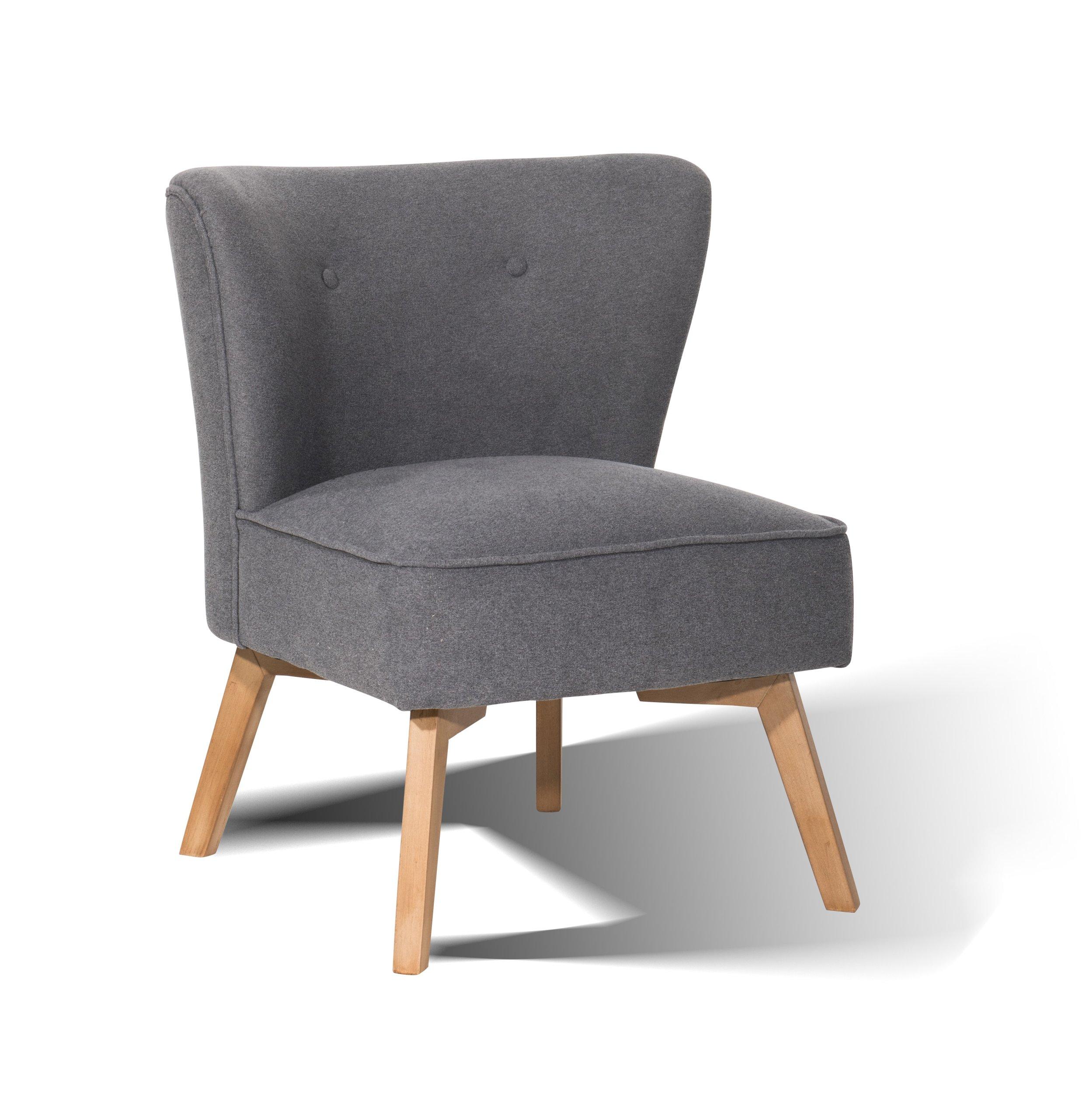 Stolička čalúnená Vintage štýl, šedá dreva