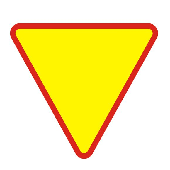 Výstražné znamenie. Podčasť priority A7 750 mm, F1