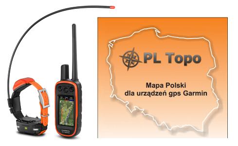 GARMIN Alpha 100 Obroża + TT15 с PL Topo EU Topo