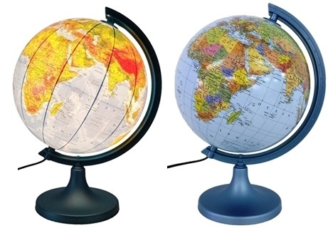 Item Globe 250 mm with LIGHTING 2 in 1 rus-NAT the GIFT