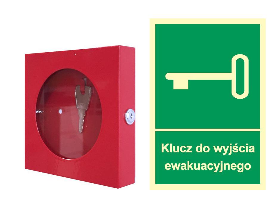 КОМПЛЕКТ: Коробка металлическая мини + знак пожарной