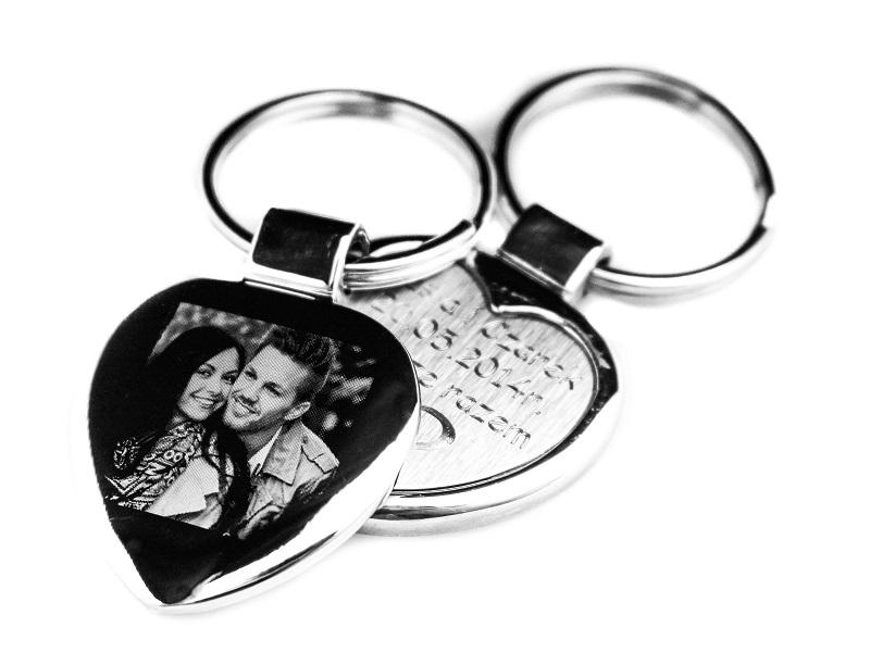Брелок для ключей СЕРДЦЕ брелок Гравер Фото для подарка