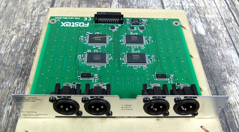 FOSTEX 8355 AES CARD / EBU D1624 Rekordér