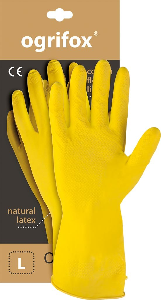 Перчатки резиновые хозяйственные на основе FLOX XL 12p