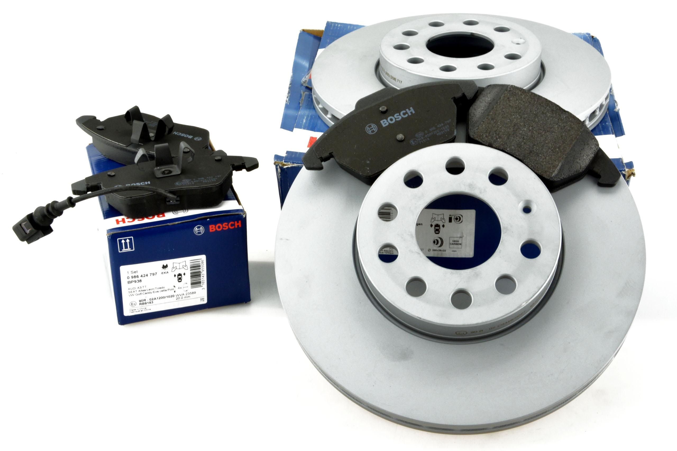 диски +klocki volkswagen audi skoda seat vw 288mm