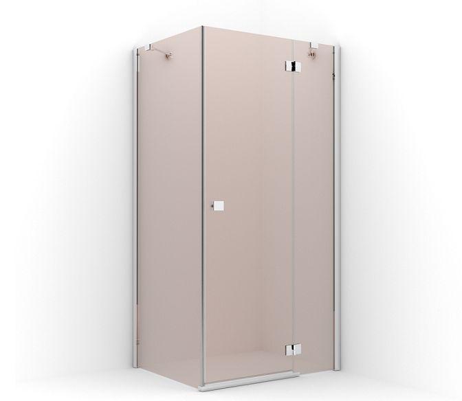 Sprcha RADAWAY ALMATEA KDJ 90x100 PRÁVO HNEDÁ
