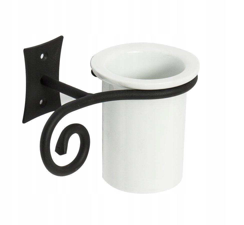 Čierna/keramický hrnček retro ,REBECCA