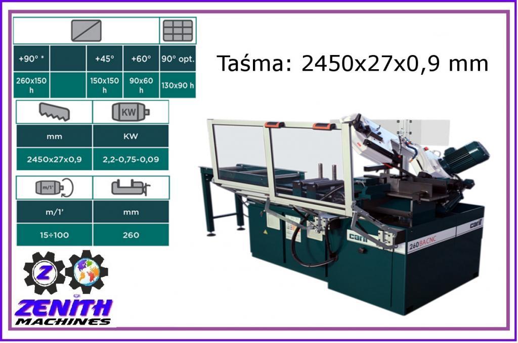 CARIF 260 BA CNC pásková fréza
