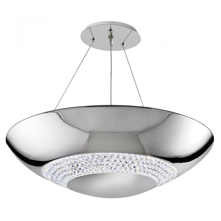 MODERNÁ LAMPA PRÍVESOK LAMPA LED 24W SALON CHROME NOVÉ