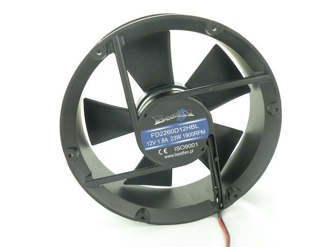 Ventilátor bestfan 220x60mm 12V efektívne veľké