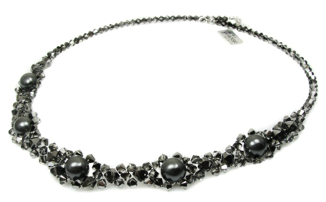 ARSYLION náhrdelník Swarovski crystal Silver Night