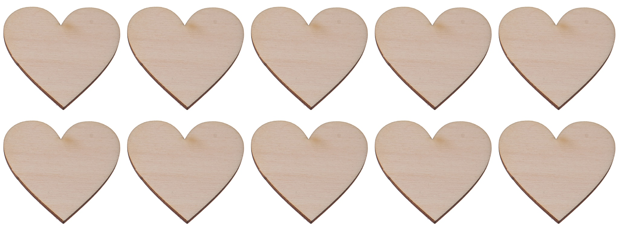 Item WOODEN HEART-the 2x2cm 10 PCs DECOUPAGE ornament