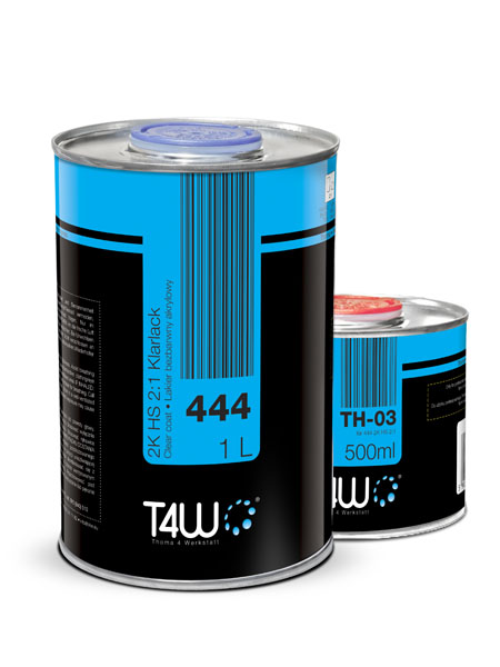 T4W 444 бесцветный Лак HS 2:1 1,5 Л / kpl