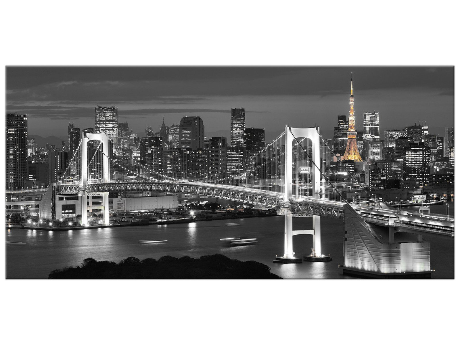 Obrázok 115x55 City Bridge v noci New York