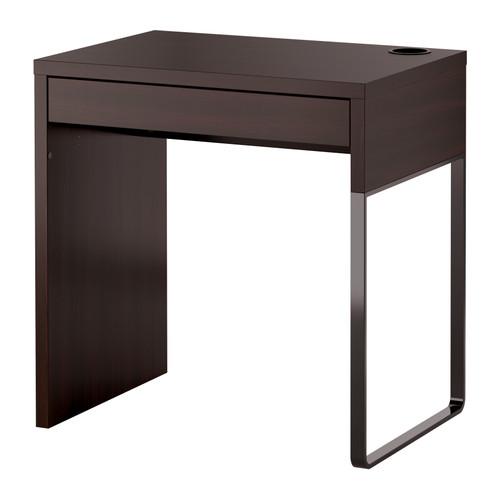 IKEA MICKE STÔL 73X50 od čiernej a hnedej