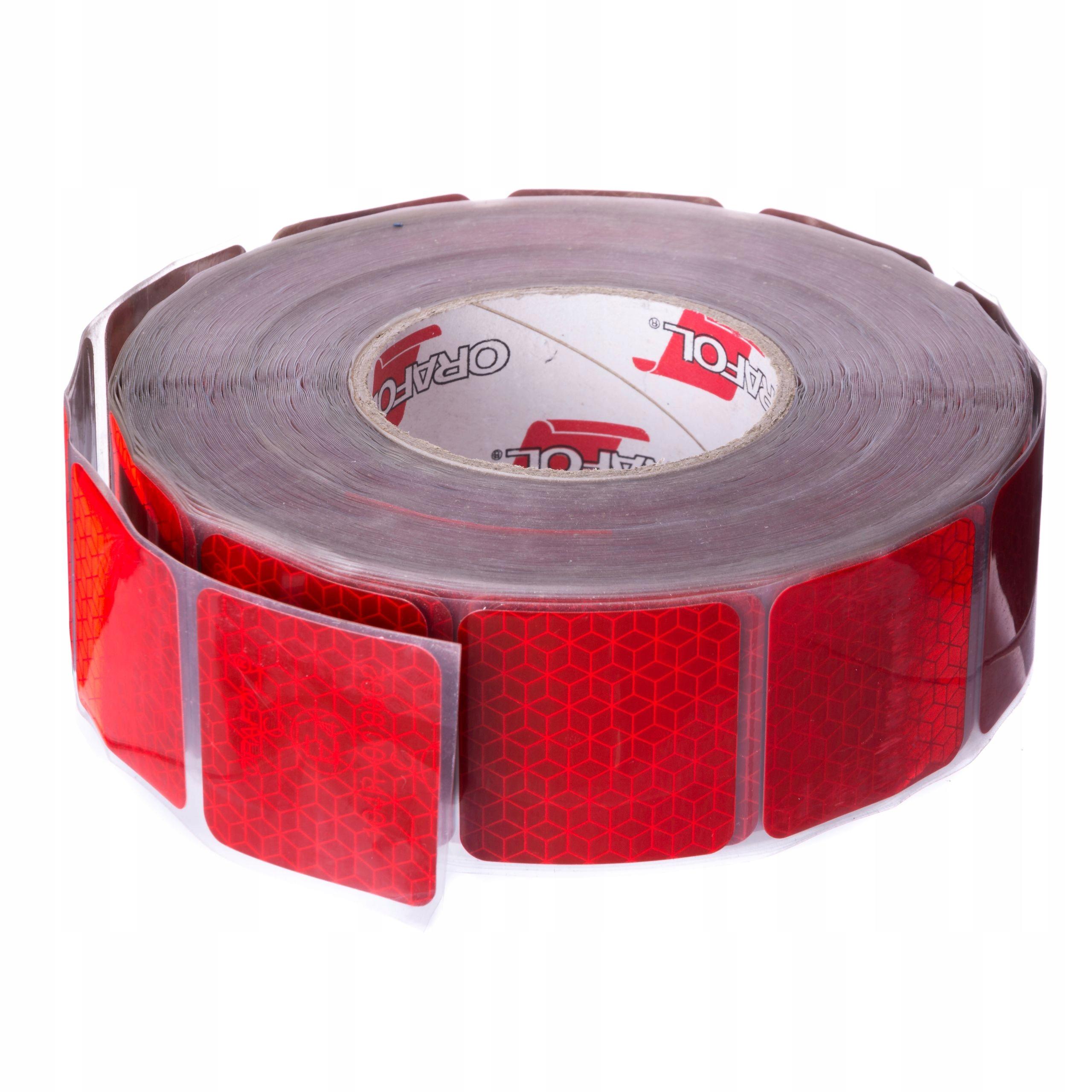 Красная светоотражающая лента в самоклеящихся сегментах