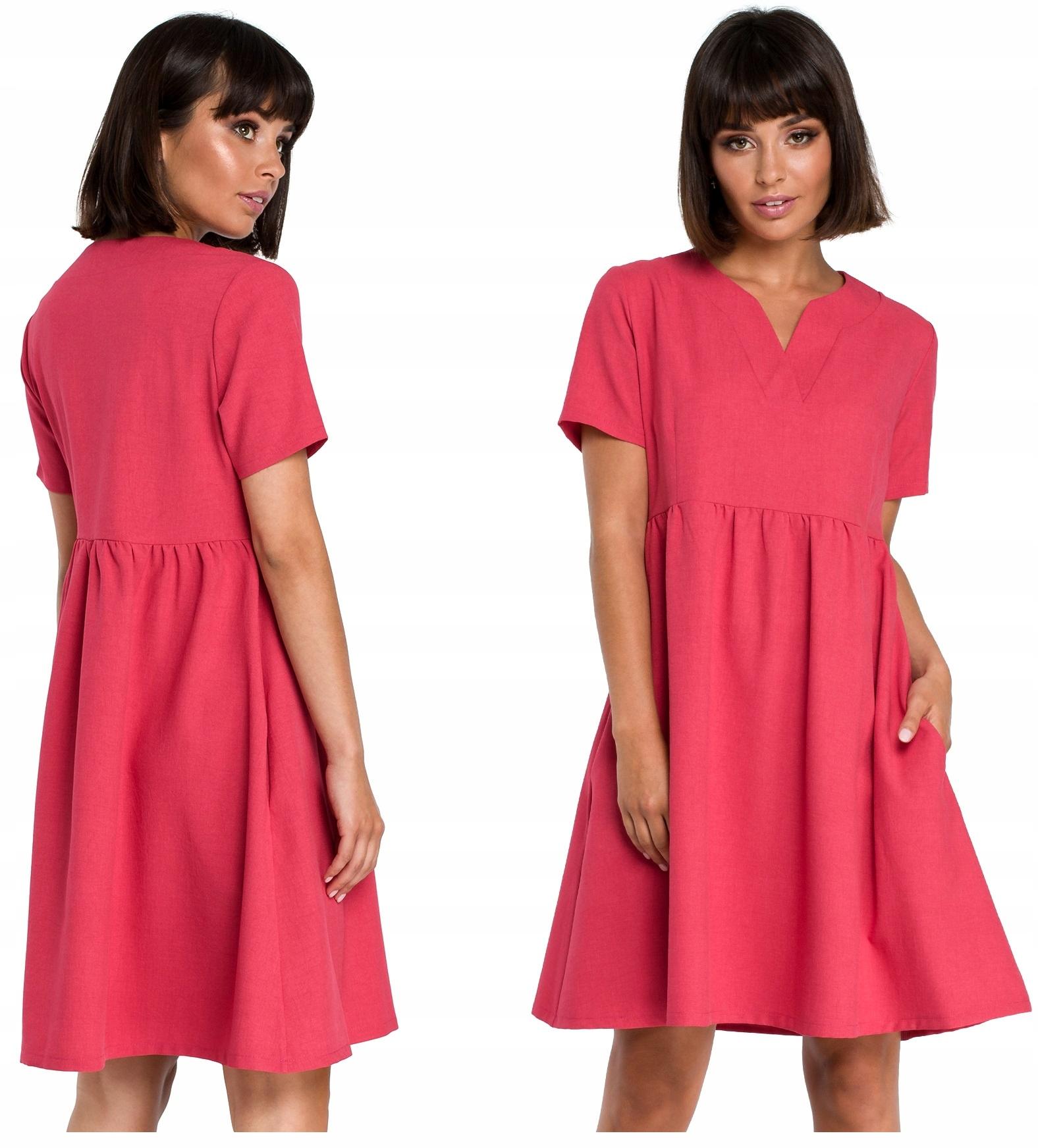 Zwiewna Sukienka Mini Odcinana Pod Biustem