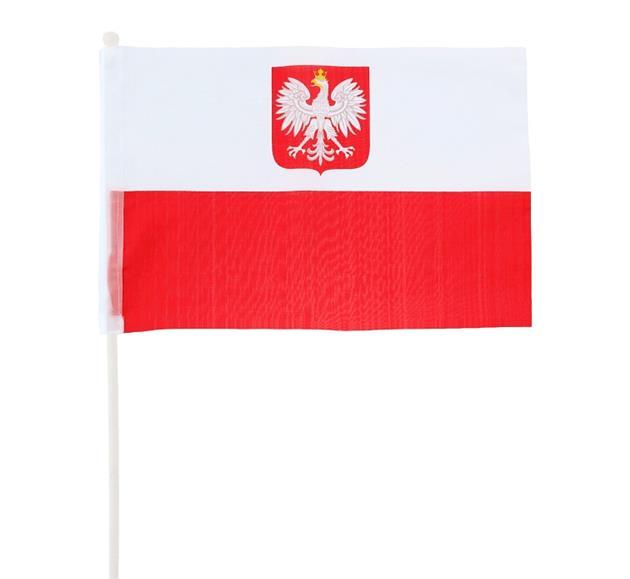 Vlajka ventilátora na palicu 60 cm Ventilátor Poľsko