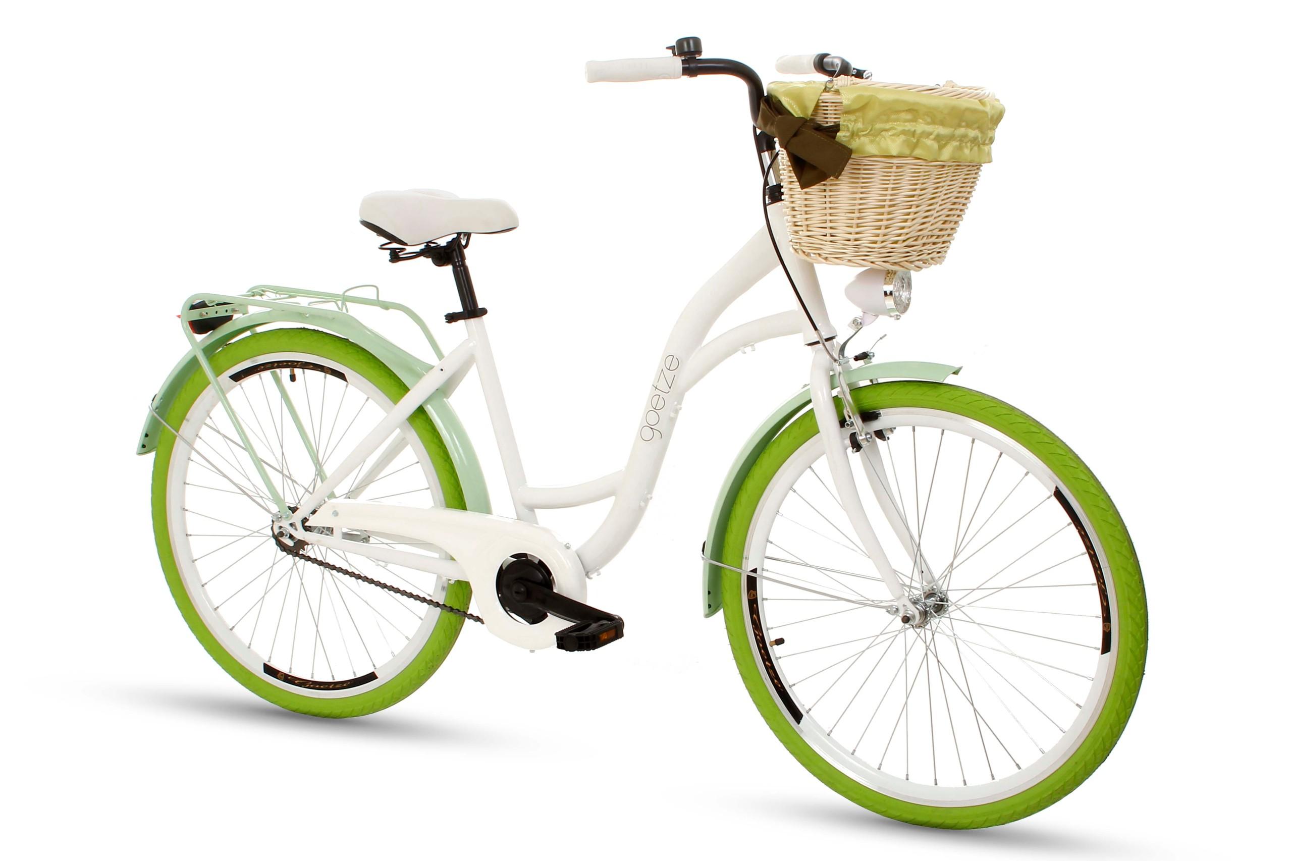 Dámsky mestský bicykel Goetze COLORS 26 košík!  Torpédové brzdy s brzdou v tvare V.