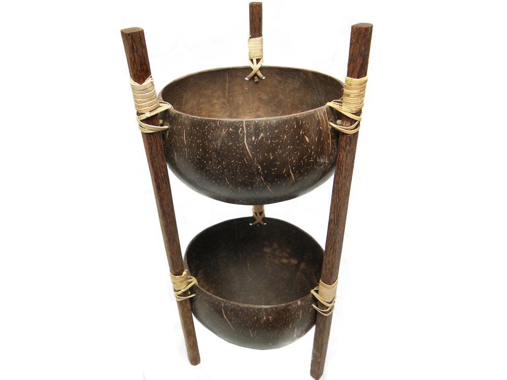 2 Podlažná misa Bowl Patera s Coconut Remesloft