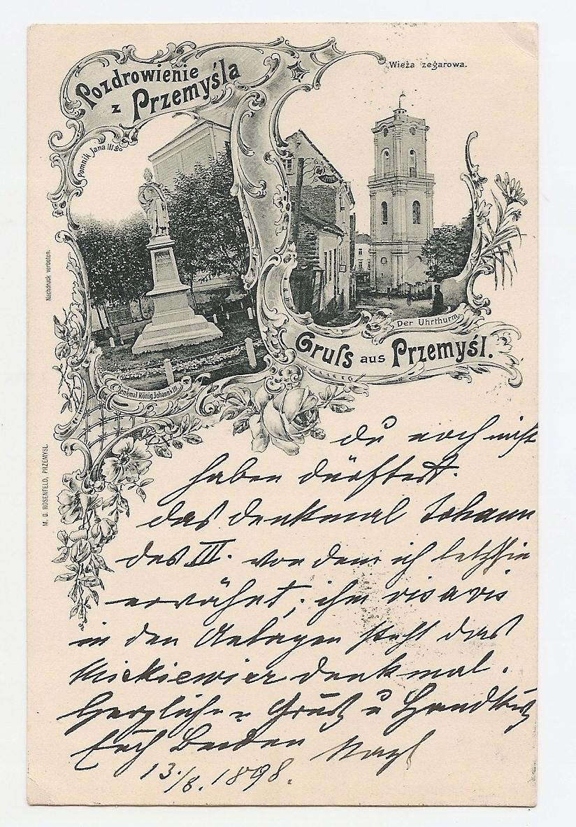 PRZEMYŚL -GRUSS AUS -litografia -1898