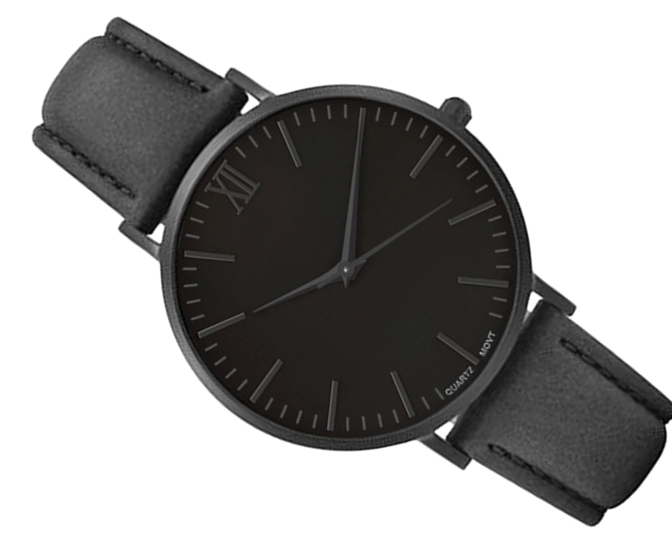 Item Watches Men's SIMPLE BLACK classic black